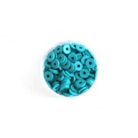 Acheter Boite de perles rondelles heishi 6 mm - bleu canard - 1,99€ en ligne sur La Petite Epicerie - 100% Loisirs créatifs