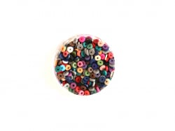 Acheter Boite de perles rondelles heishi 3 mm - mix de couleurs naturelles - 1,99€ en ligne sur La Petite Epicerie - Loisirs...