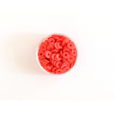 Acheter Boite de perles rondelles heishi 6 mm - rouge - 1,99€ en ligne sur La Petite Epicerie - 100% Loisirs créatifs