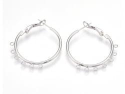 Acheter Boucles d'oreilles créoles 30 mm - plaquées argent 925 - 4,49€ en ligne sur La Petite Epicerie - 100% Loisirs créatifs