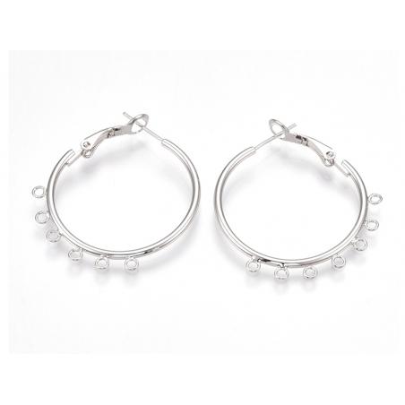 Acheter Boucles d'oreilles créoles 30 mm - flash argent 925 - 4,49€ en ligne sur La Petite Epicerie - Loisirs créatifs
