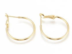 Acheter Paire boucles d'oreilles créoles 24 mm - plaquées or fin 24K - 4,49€ en ligne sur La Petite Epicerie - Loisirs créatifs