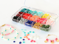 Acheter Boite de 15 couleurs de perles heishi 6 mm - 14,99€ en ligne sur La Petite Epicerie - 100% Loisirs créatifs