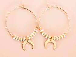 Acheter Pack DIY - Paire de créoles Heishi et croissant de lune doré - 12,99€ en ligne sur La Petite Epicerie - 100% Loisirs...