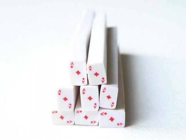 Cane carte as de carreaux- en pâte polymère - à trancher