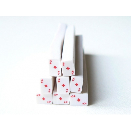 Cane carte as de carreaux- en pâte polymère - à trancher  - 1