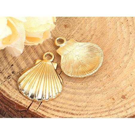 Acheter Pendentif coquillage coquille - couleur or - 0,79€ en ligne sur La Petite Epicerie - Loisirs créatifs