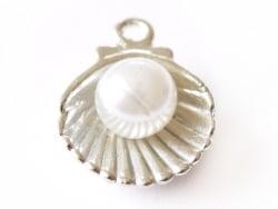 Acheter Pendentif coquillage avec perle - couleur argent - 0,49€ en ligne sur La Petite Epicerie - Loisirs créatifs