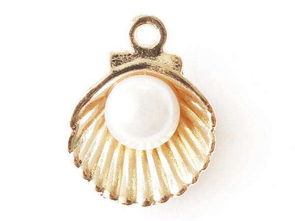 Acheter Pendentif coquillage avec perle - couleur doré - 0,49€ en ligne sur La Petite Epicerie - Loisirs créatifs