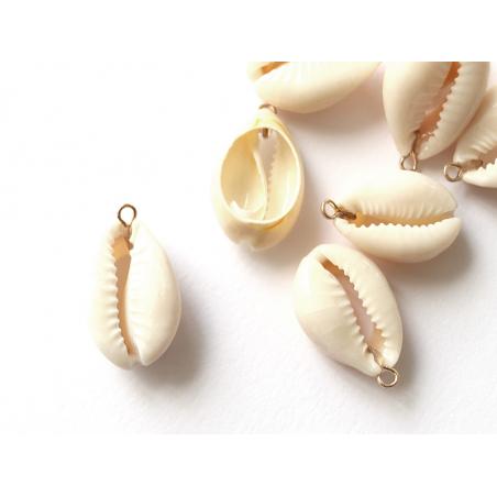Acheter Pendentif véritable coquillage cauris - 25 mm - 0,49€ en ligne sur La Petite Epicerie - 100% Loisirs créatifs