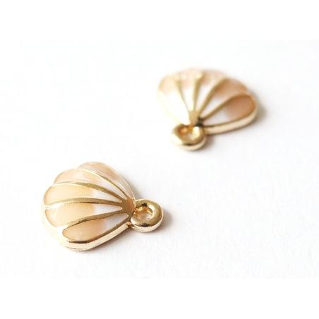 Acheter Pendentif émaillé petit coquillage rose - 1,69€ en ligne sur La Petite Epicerie - Loisirs créatifs