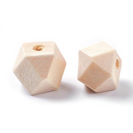 Acheter 10 perles en bois géométriques - 10 mm - 2,49€ en ligne sur La Petite Epicerie - 100% Loisirs créatifs