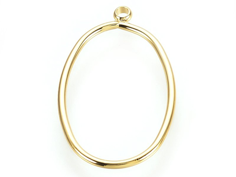 Acheter Pendentif cadre ovale - doré à l'or fin 24K - 1,19€ en ligne sur La Petite Epicerie - Loisirs créatifs