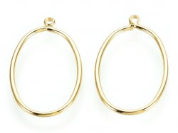 Acheter Pendentif cadre ovale - doré à l'or fin 24K - 1,19€ en ligne sur La Petite Epicerie - 100% Loisirs créatifs