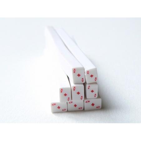 Cane carte as de carreaux- en pâte polymère - à trancher  - 2