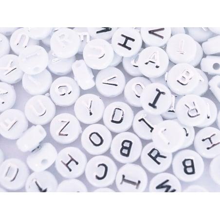 Acheter Lot de 200 perles rondes alphabet - lettres argentées - 6,69€ en ligne sur La Petite Epicerie - Loisirs créatifs