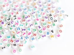 Acheter 200 perles lettres alphabet rondes multicolores - 3,99€ en ligne sur La Petite Epicerie - 100% Loisirs créatifs
