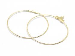 Acheter Lot de 2 intercalaires créoles 30mm - doré à l'or fin 18K - 0,99€ en ligne sur La Petite Epicerie - 100% Loisirs cré...