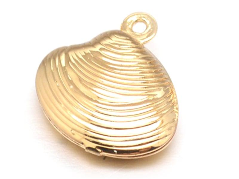 Acheter Pendentif coquillage coquille palourde - laiton couleur or - 0,69€ en ligne sur La Petite Epicerie - 100% Loisirs cr...