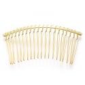 Barrette peigne doré à décorer  - 75 mm