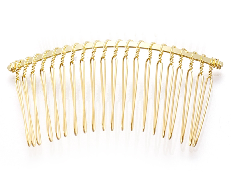 Acheter Barrette peigne doré à décorer - 75 mm - 1,19€ en ligne sur La Petite Epicerie - 100% Loisirs créatifs