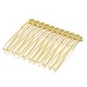 Barrette peigne doré à décorer  - 42 mm