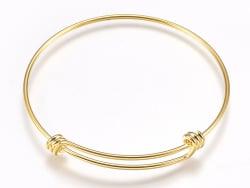 Acheter Support de bracelet rigide - bracelet torque / jonc - taille ajustable - doré - 3,19€ en ligne sur La Petite Epiceri...