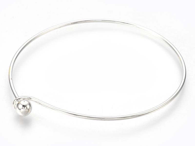 Acheter Support de bracelet rigide - bracelet torque / jonc - avec boule à dévisser - argenté - 3,19€ en ligne sur La Petite...
