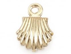 Acheter Breloque pendentif mini coquillage en laiton doré à l'or fin 18K - 0,79€ en ligne sur La Petite Epicerie - Loisirs c...