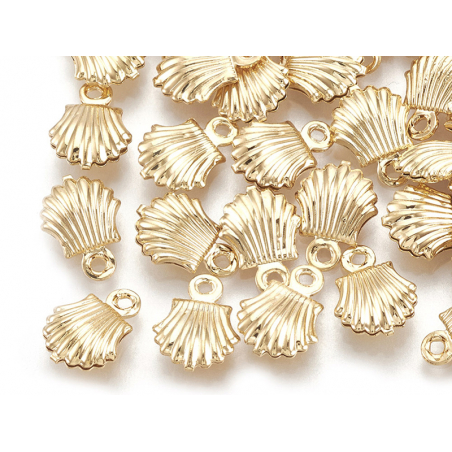 Acheter Breloque pendentif mini coquillage en laiton doré à l'or fin 18K - 0,79€ en ligne sur La Petite Epicerie - 100% Lois...