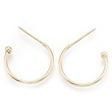 Acheter Support pour boucles d'oreilles créoles - diamètre 18 mm - laiton doré à l'or fin 18K - 3,19€ en ligne sur La Petite...