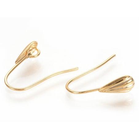 Acheter Boucles d'oreilles pendantes avec coquillage - laiton doré à l'or fin 16K - 1,89€ en ligne sur La Petite Epicerie - ...