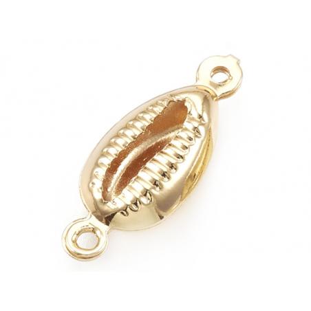 Acheter Breloque connecteur petit cauris - laiton doré à l'or fin 24K - 1,49€ en ligne sur La Petite Epicerie - 100% Loisirs...