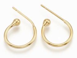Acheter Support pour boucles d'oreilles créoles - diamètre 15 mm - laiton doré à l'or fin 24K - 2,99€ en ligne sur La Petite...