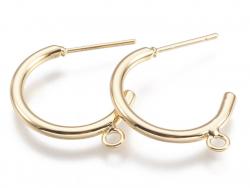 Acheter Boucles créoles avec anneau - diamètre 24 mm - laiton doré à l'or fin 24K - 3,69€ en ligne sur La Petite Epicerie - ...
