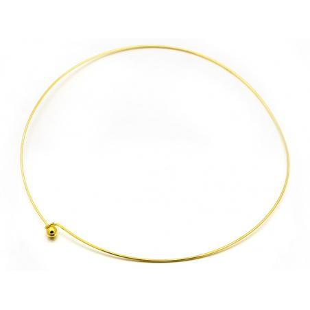 Acheter Support pour création de collier torque - doré - 2,79€ en ligne sur La Petite Epicerie - Loisirs créatifs