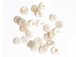 Acheter 20 perles rondelles heishi en nacre véritable - 6 mm - 2,99€ en ligne sur La Petite Epicerie - 100% Loisirs créatifs