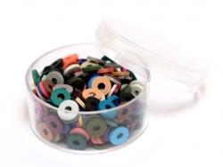 Acheter Boite de perles rondelles heishi 6 mm - mix de couleurs naturelles - 1,99€ en ligne sur La Petite Epicerie - Loisirs...