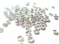 100 anneaux 3,5 mm - argenté clair  - 1