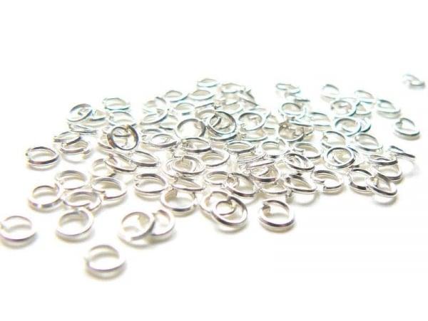 Acheter 100 anneaux 3 mm argentés clair - 2,99€ en ligne sur La Petite Epicerie - Loisirs créatifs