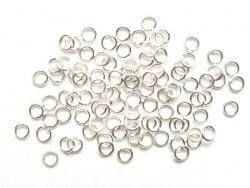 100 anneaux 3 mm argentés clair  - 2