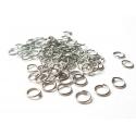 100 anneaux 6 mm argentés foncés