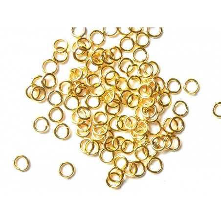 100 anneaux 4 mm dorés  - 2