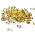 100 anneaux 4 mm dorés