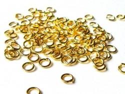 100 anneaux 4 mm dorés  - 1
