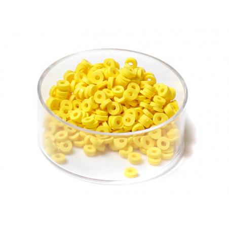 Acheter Boite de perles rondelles heishi 3 mm - jaune - 1,99€ en ligne sur La Petite Epicerie - 100% Loisirs créatifs