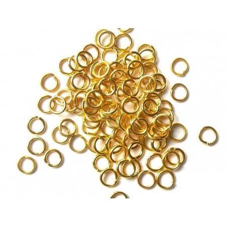 100 anneaux 6 mm dorés  - 2