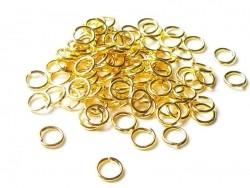 100 anneaux 5 mm dorés