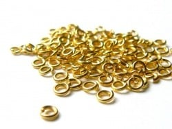 100 anneaux 3 mm dorés  - 1