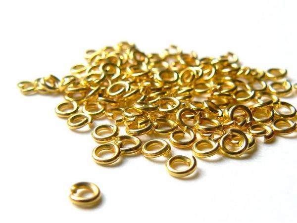 Acheter 100 anneaux 3 mm dorés - 2,99€ en ligne sur La Petite Epicerie - 100% Loisirs créatifs
